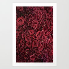 Flower Market 3 - Red Roses Art Print
