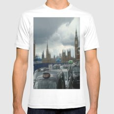 Gloomy Day in London Mens Fitted Tee SMALL White
