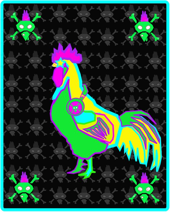 dubstep rooster Canvas Print