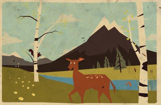 bambiland Canvas Print