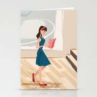 Pretty Girl At The Art M… Stationery Cards