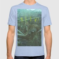 MEOW! Mens Fitted Tee Tri-Blue SMALL