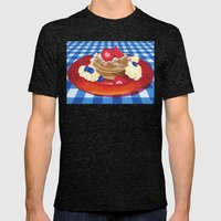 Pancakes Week 10 Mens Fitted Tee Tri-Black SMALL