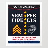 US Marine Corps, USA. Art Print