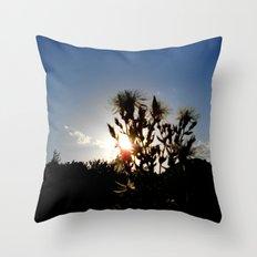 Sand Lilly Sunset Throw Pillow