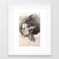 The Bride Of Frankenstei… Framed Art Print
