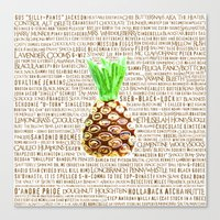 Psych Revamped! Complete List of Gus Nicknames!  Canvas Print