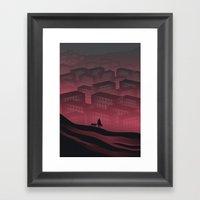 Sleeping Town Framed Art Print