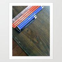 Art Pencils Art Print