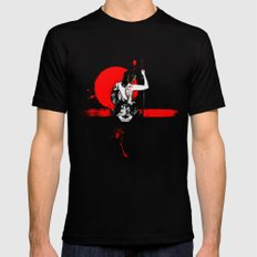 Trash Polka - Female Samurai Mens Fitted Tee Black SMALL