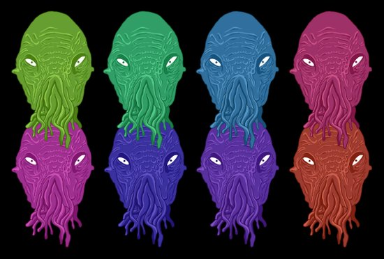 Doctor Who: The Ood (Pop Art Edition) Art Print