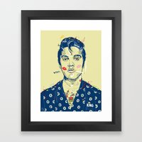 WTF? ELVIS MORNING PARTY Framed Art Print