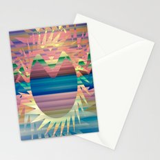 Chevron Sunny Stripes Stationery Cards