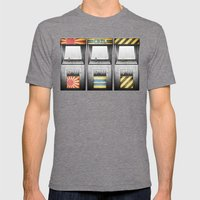 Arcade Machines Mens Fitted Tee Tri-Grey SMALL