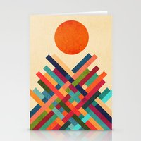 sun Stationery Cards featuring Sun Shrine by Picomodi