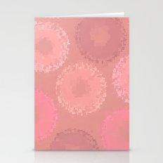 Glazed Doughnuts Pink Pixel Art Stationery Cards
