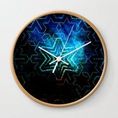 Dark star mandala Wall Clock