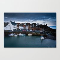 Fishing Harbor Canvas Print