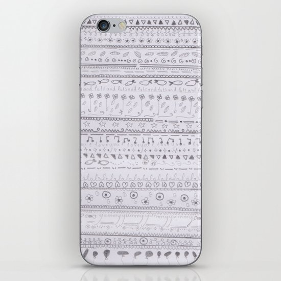doodle time :) iPhone & iPod Skin