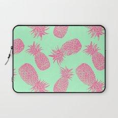 Pineapple Pattern - Mint & Crimson Laptop Sleeve