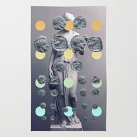 Statue With A Dot Gradie… Rug