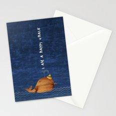 i am a happy whale Stationery Cards