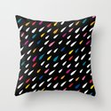 Bright Droplets Throw Pillow