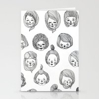 girls Stationery Cards featuring Girls by Young Ju