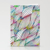 Trace Paint Abstract Stationery Cards