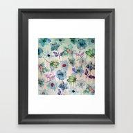Framed Art Print featuring Dreaming Of Spring 2 by Klara Acel