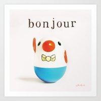 Bonjour! Art Print