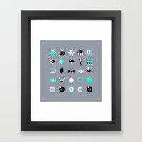 8-Bit Bling Framed Art Print