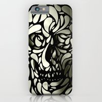 bee iPhone & iPod Cases featuring Skull by Ali GULEC