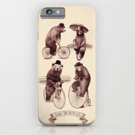 Bears on Bicycles iPhone & iPod Case