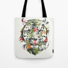 Tropical tiger Tote Bag