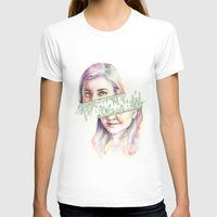 I Grow Crystals Womens Fitted Tee White SMALL