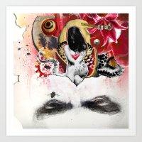 MINGA x Sleepless is the Watchful Eye Art Print