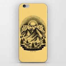FIND A BEAUTIFUL PLACE TO GET LOST (Yellow) iPhone & iPod Skin