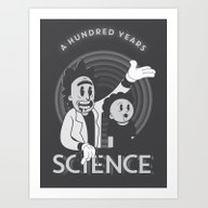 Art Print featuring A HUNDRED YEARS SCIENCE by Andbloom