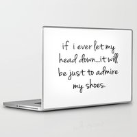 shoes Laptop & iPad Skins featuring Shoes by I Love Decor