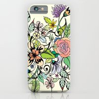 iPhone & iPod Case featuring Floral Yellow by Maria Hegedus