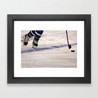 He Skates Framed Art Print