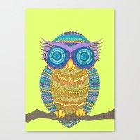 Henna Owl Canvas Print