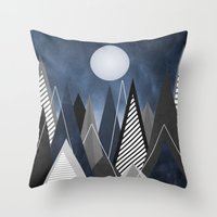 Midnight Mountains Throw Pillow