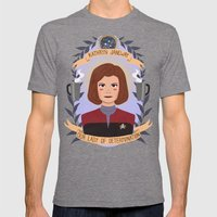 Kathryn Janeway Mens Fitted Tee Tri-Grey SMALL
