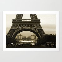 eiffel Art Prints featuring Eiffel by Shannon McCullough-Wight
