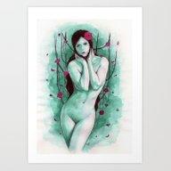 The Sad Lady Art Print