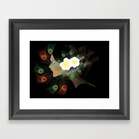 Magnolias And Peacock's … Framed Art Print