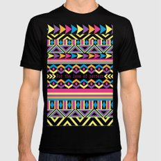 For The Love Of Pattern. SMALL Black Mens Fitted Tee