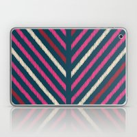 Wild_Chevron_Ikat_Navy Laptop & iPad Skin